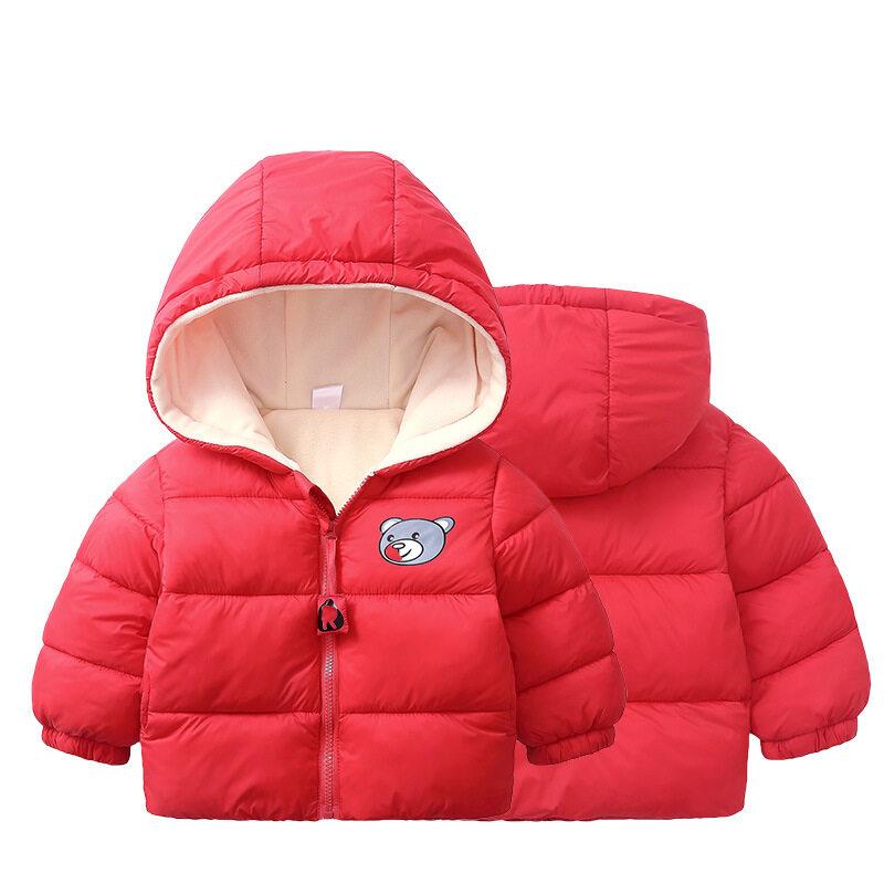 Jzb558เด็กผู้ชายเด็กสาวเสื้อคลุมฤดูหนาว Zip หิมะอุ่น Hoodie Outwear.