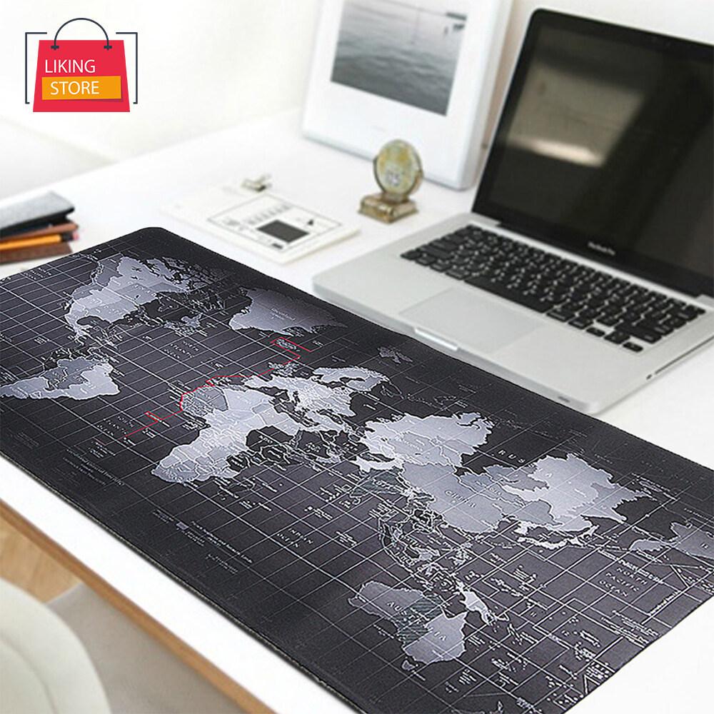 แผ่นรองเมาส์ ลายแผนที่โลก World Map Mouse Pad