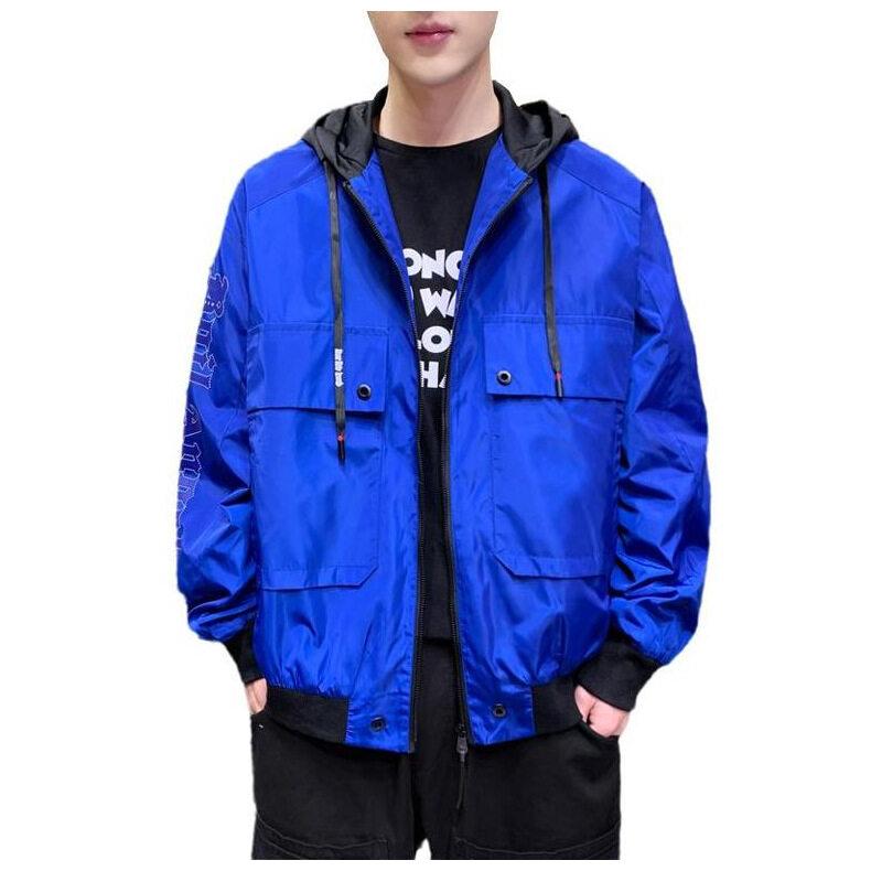 กันแดด กันลม กันความหนาว เสื้อแจ็คเก็ตคลุม เสื้อกันหนาว เสื้อฮู้ด แขนยาว ลายฟชั่น สำหรับฤดูใบไม้ร่วง