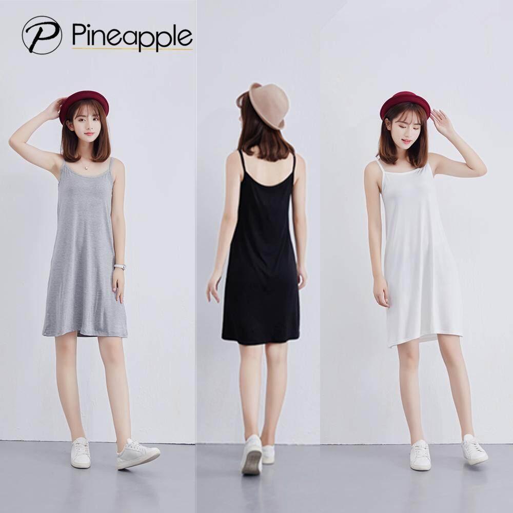 ชุดซับในแบบยาว เสื้อสายเดี่ยวแบบยาว Cami/slip Dresses Qz102.
