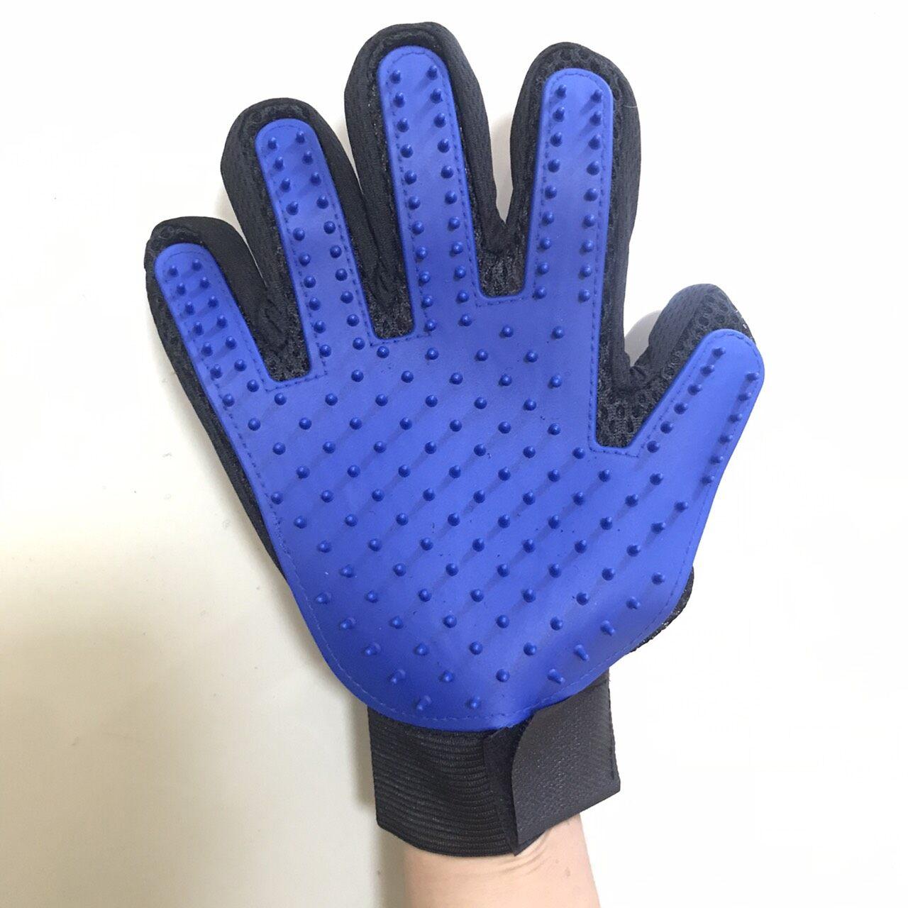 ถุงมือแปรงขนสัตว์เลี้ยง.
