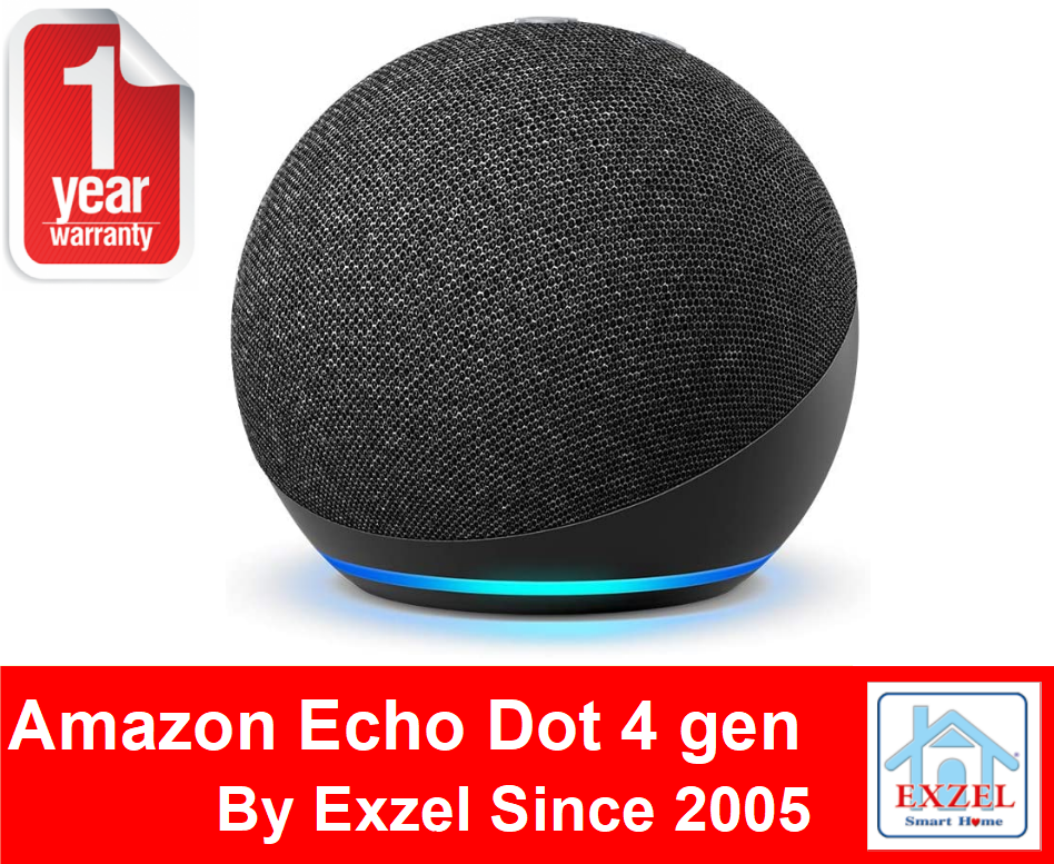 Echo Dot 4 (4th Gen) - Amazon Alexa Voice Assistant ลำโพงอัจฉริยะ By Amazon.