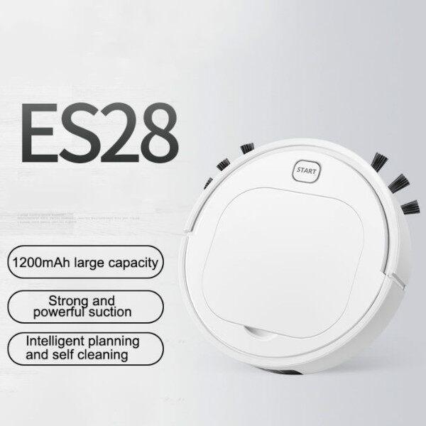 Aligood รุ่น ES28 หุ่นยนต์ดูดฝุ่นแบบไร้สายกวาด USB ชาร์จหุ่นยนต์ทำความสะอาด เครื่องดูดฝุ่น หุ่นยนต์กวาดอัจฉริยะ ใช้งานง่ายช่วยคุณประหยัดเวลา