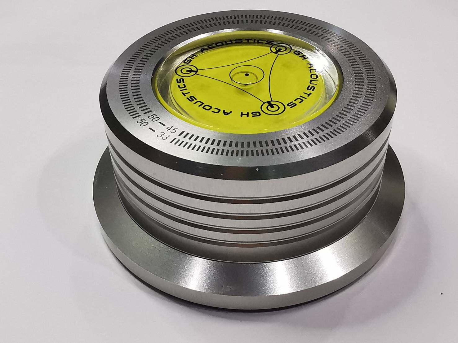 Disc Stabilizer ที่ทับแผ่นเสียง มีสีดำ สีเงิน สีทอง วัสดุ Aluminum น้ำหนัก 278 g.(กรัม) ช่วยให้ขณะเล่นเพลงจากแผ่นเสียงนิ่งดีขึ้น(Stabilizer)