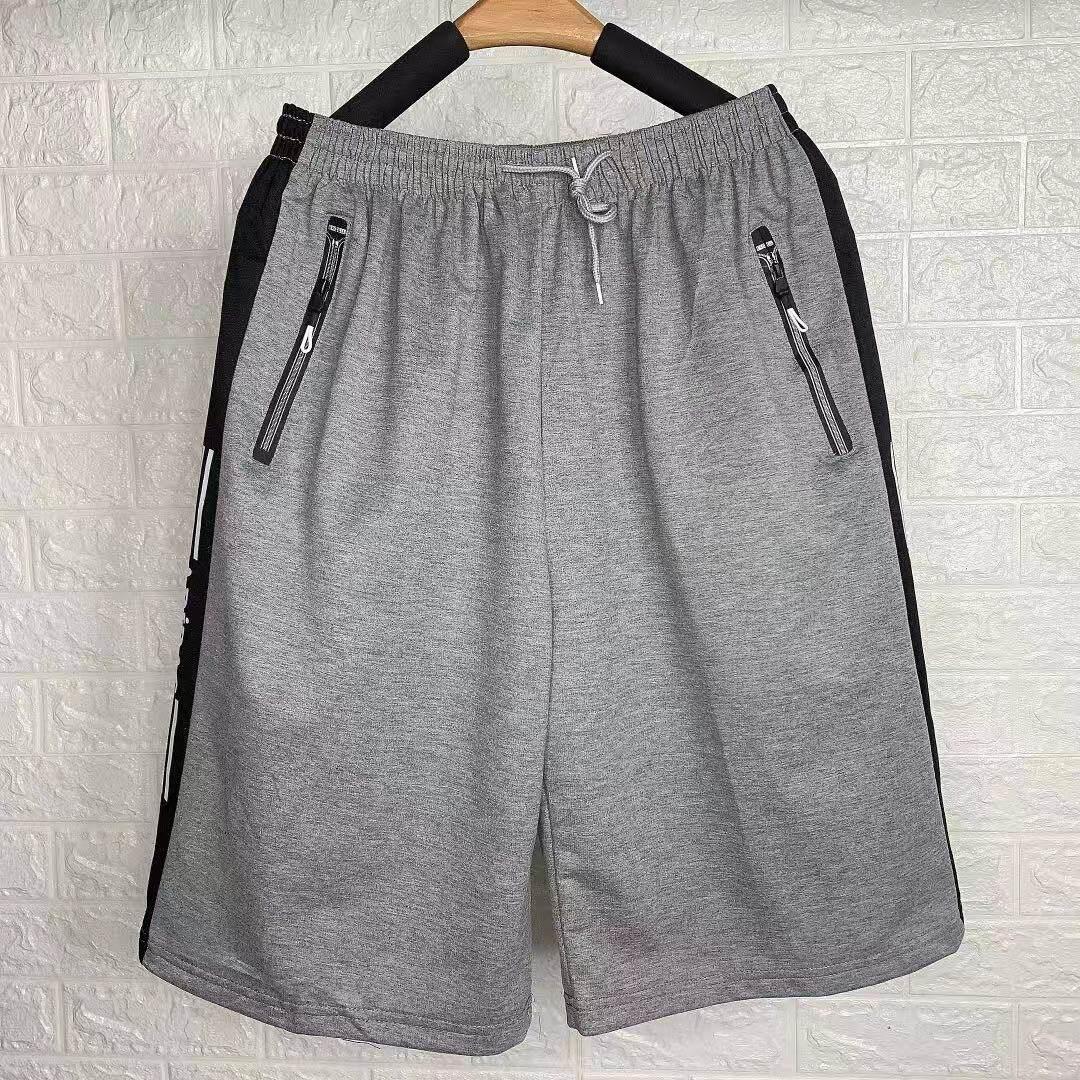 กางเกงขาสั้นเอวยางยืดทรงหลวมสำหรับผู้ชายขนาดใหญ่ 3XL-4XL สะดวกสบายด้วยผ้าฝ้าย