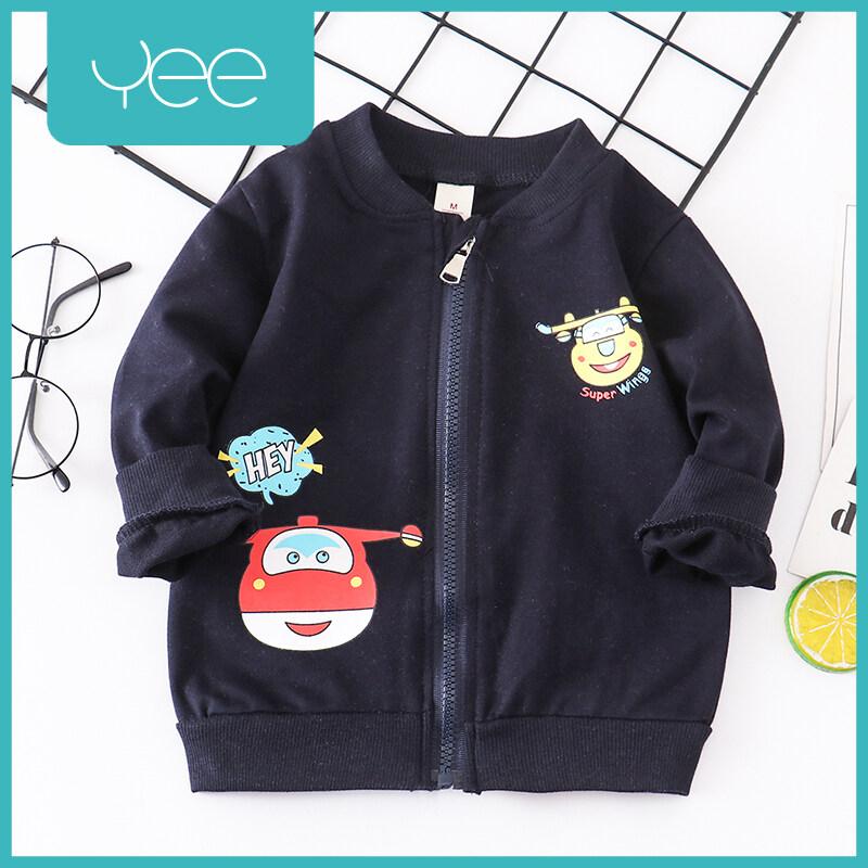 Yeeshop ชุดเสื้อผ้าเด็กแจ็คเก็ตแขนยาว ลายเครื่องบิน ไซส์ S/6-12เดือน M/12-18เดือน L/18-24เดือน XL/2-3ปี