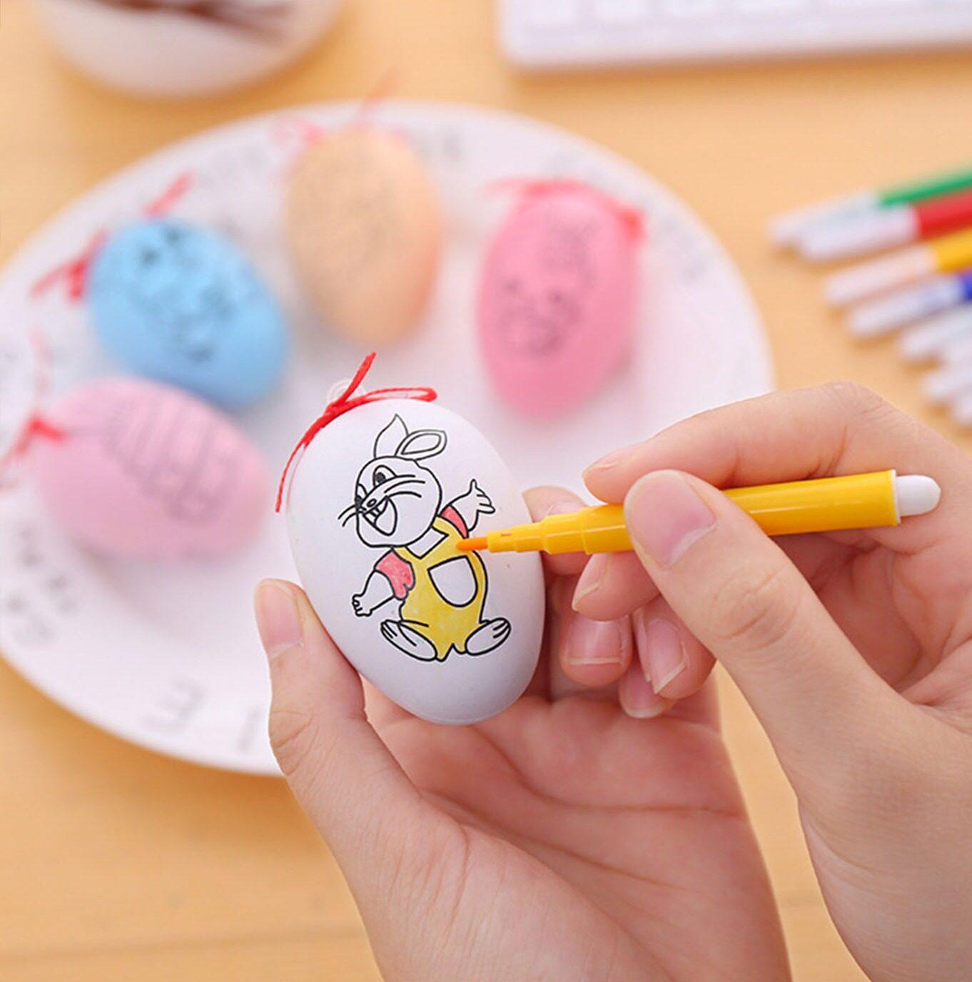 ชุดระบายสีไข่ ไข่ระบายสี ระบายสี ไข่ คละสี คละลาย เสริมพัฒนาการ ฝึกสมาธิ เด็กเล็ก พร้อมสีเมจิก พร้อมสี 1 ชุด พร้อมส่ง จากไทย ถูกที่สุด.