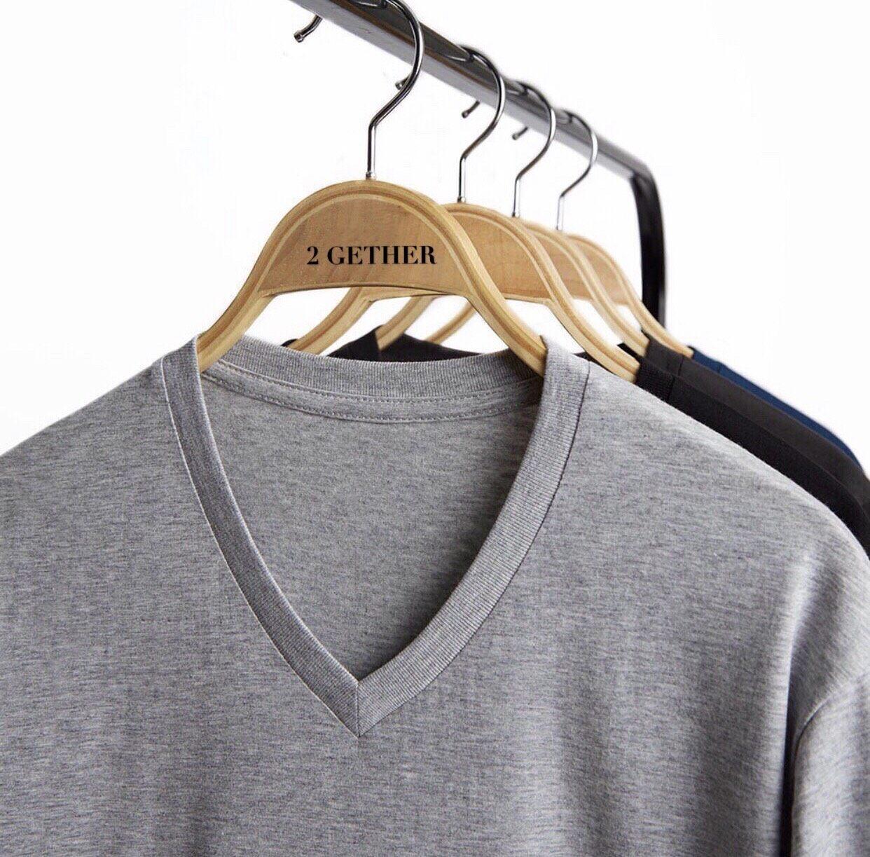 เสื้อยืดสีพื้น คอวี (v-Neck) แขนสั้น ผ้า Cotton100% ราคาส่ง.