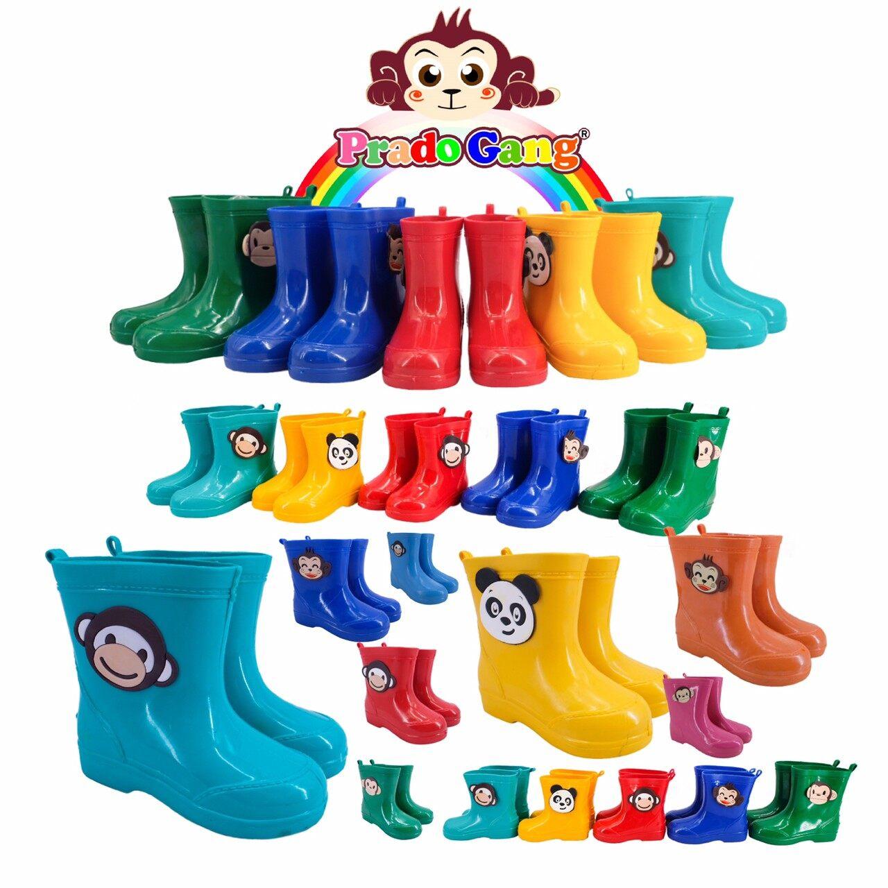 รองเท้าบูทเด็ก Prado Gang สีสันสดใส น่ารัก บูทเด็ก บูทกันน้ำ ร้องเท้าบูท บูทลิง เด็กเล็ก เด็กโต.