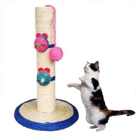E3*เสาข่วนแมว ที่ลับเล็บแมว ที่ฝนเล็บแมว ของเล่นแมว อุปกรณ์สัตว์เลี้ยงแถมฟรีcatnip.
