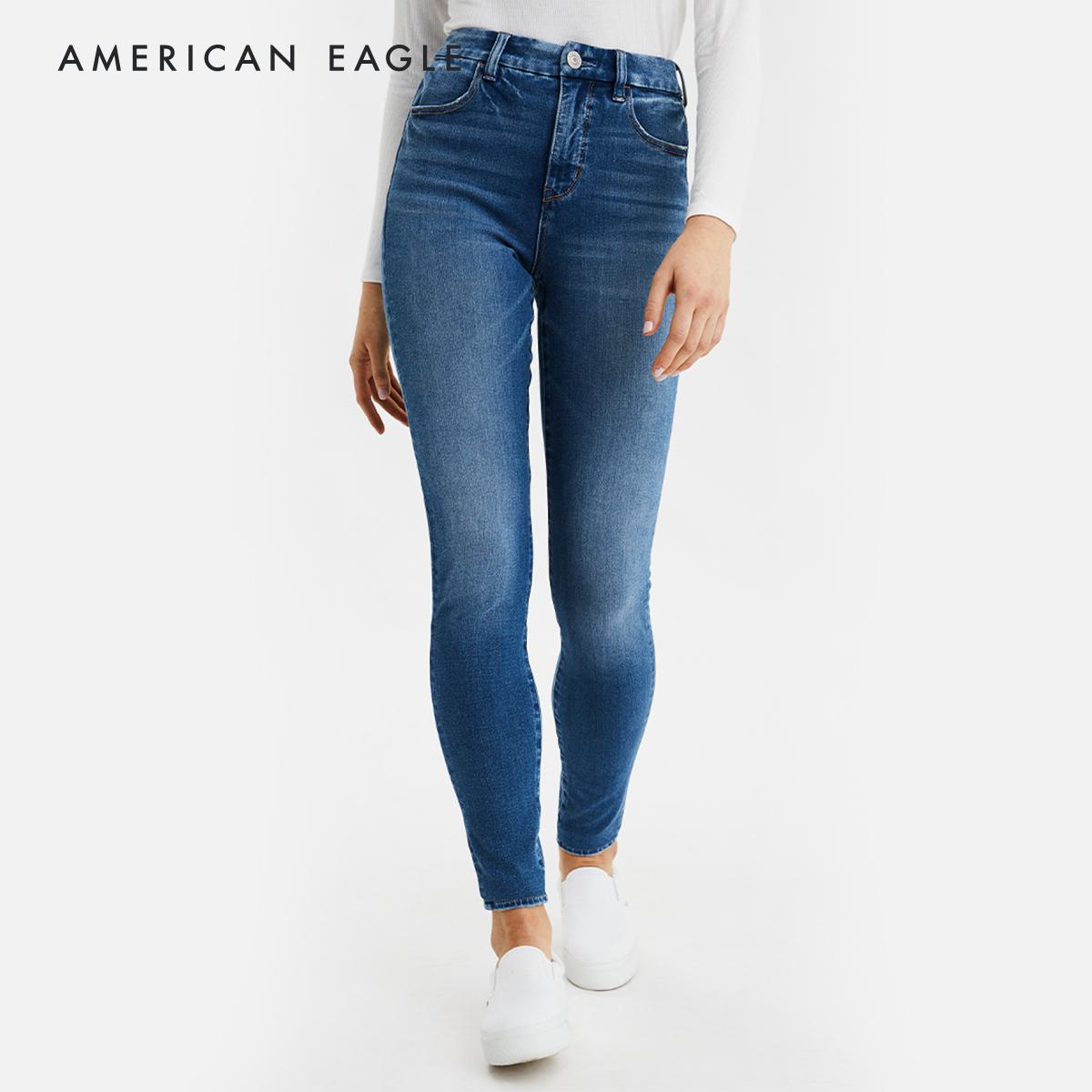 American Eagle The Dream Jean Curvy High-Waisted Jegging กางเกง ยีนส์ ผู้หญิง ดรีมยีนส์ เคิร์ฟวี่ เอวสูง (ความยาวแบบสั้น)(043-2429-851).