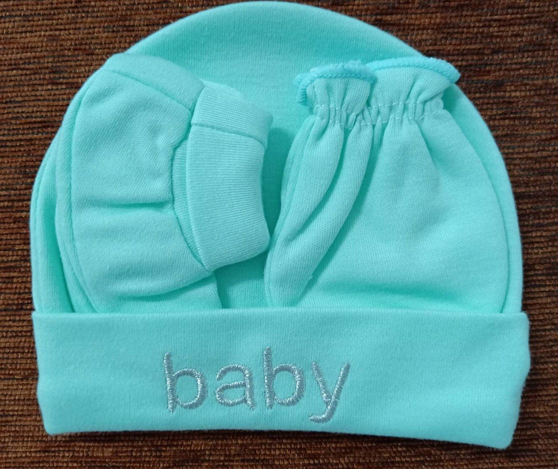 ชุดของขวัญ ชุดเซ็ทสำหรับทารก หมวก+ถุงมือ+ถุงเท้าเด็กอ่อน เด็กแรกเกิด - 3 เดือน แพ็ค 1