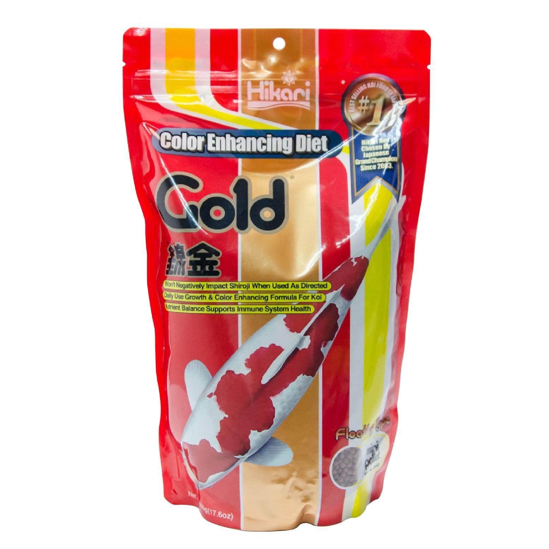 Hikari Gold อาหารปลาคาร์ฟ ฮิคาริ สูตรโปรตีนมาตรฐานเร่งสี เม็ดเล็ก แบบลอย (500 g)