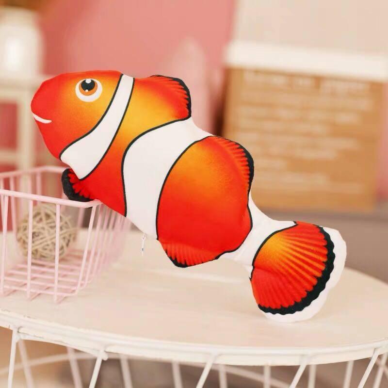 ปลาดุ๊กดิ๊กของเล่นสำหรับเด็ก ลูกแมวหรือลูกหมา Dancing Fish ปลาสวิงไฟฟ้าหรูหรา, จำลองปลาใหญ่ที่จะกระโดด.