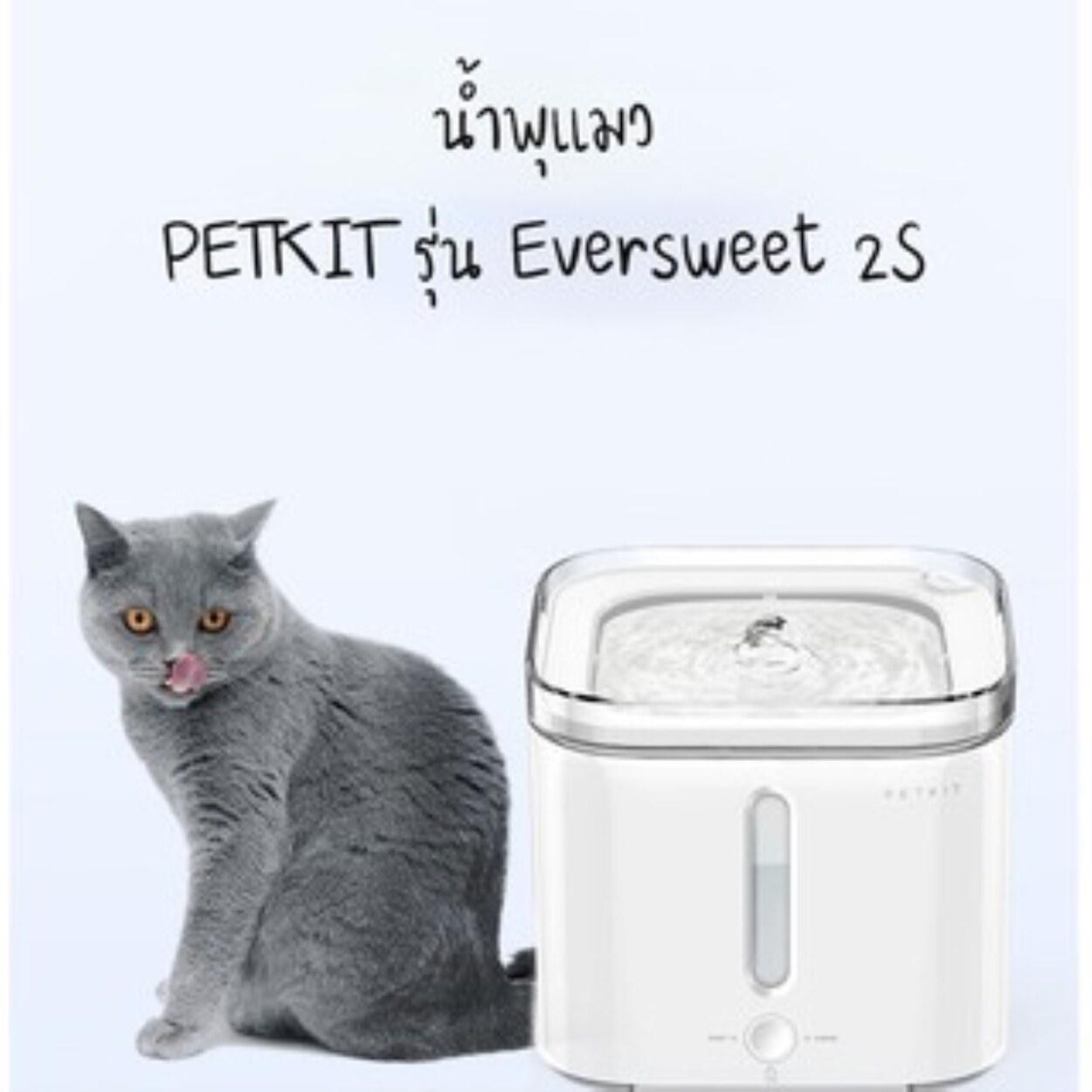 Pet water dispenser *พร้อมส่ง*Petkitน้ำพุแมวน้ำพุหมา น้ำพุสัตว์เลี้ยง อุปกรณ์ สัตว์เลี้ยง PETKIT EVERSWEET2S ใหม่ล่าสุด(รับประกัน 1 ปี)