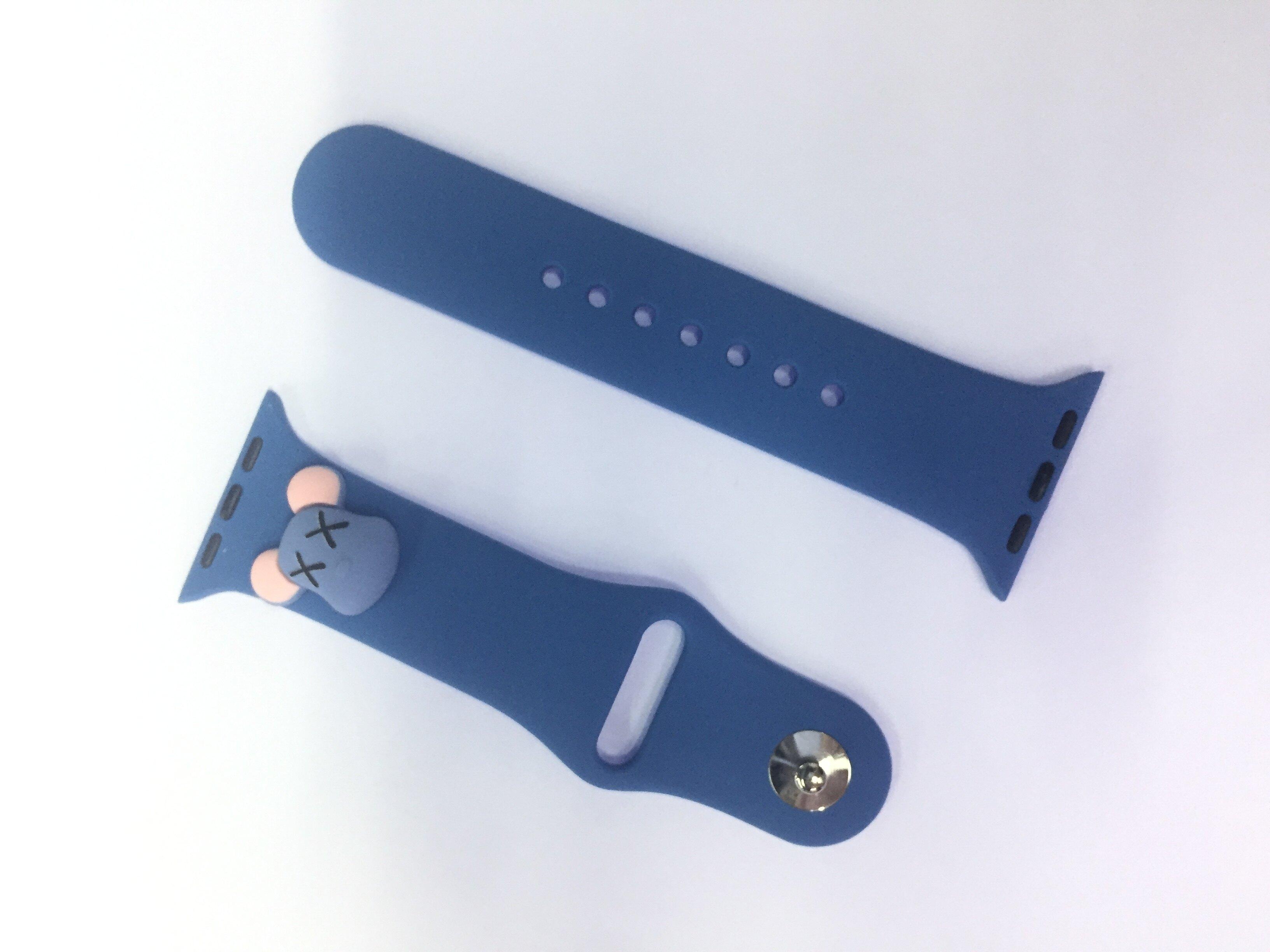 สายนาฬิกา การ์ตูน 38/40/42/44 ซิริโคน แบบสั้น ใช้ได้กันสมาร์ทวอร์ชapple watch w55 w56 t500 t5+ ft50 f28 w88 y60 x16 t68 pro [YG GADGETS]