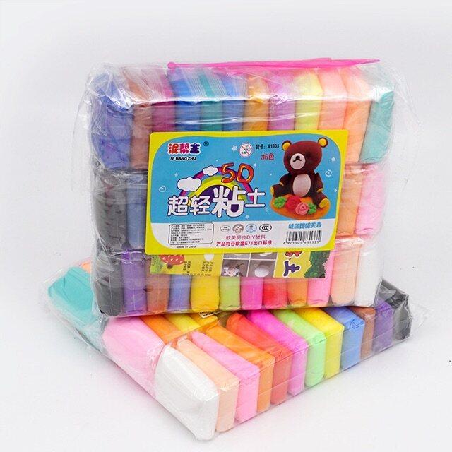 ดินเบา Light Clay ดินเกาหลี36 สี พร้อมติด อุปกรณ์.