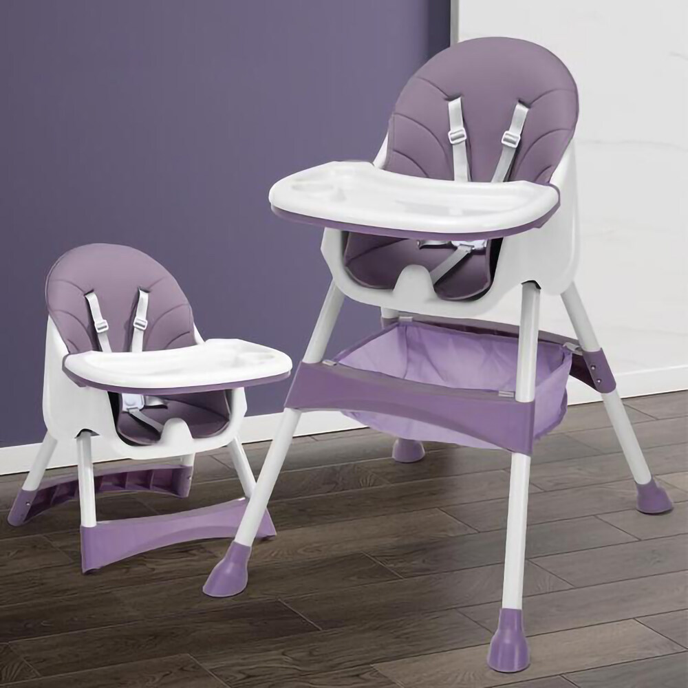 Little Angels เก้าอี้ทานข้าวเด็ก 6 เดือนขึ้นไป แถมเบาะรองนั่ง PU+ชั้นเก็บของ+ถาดรองอาหาร ปรับเข้าออกได้ 3 ระดับ 5 สีให้เลือก เก้าอี้กินข้าวเด็ก