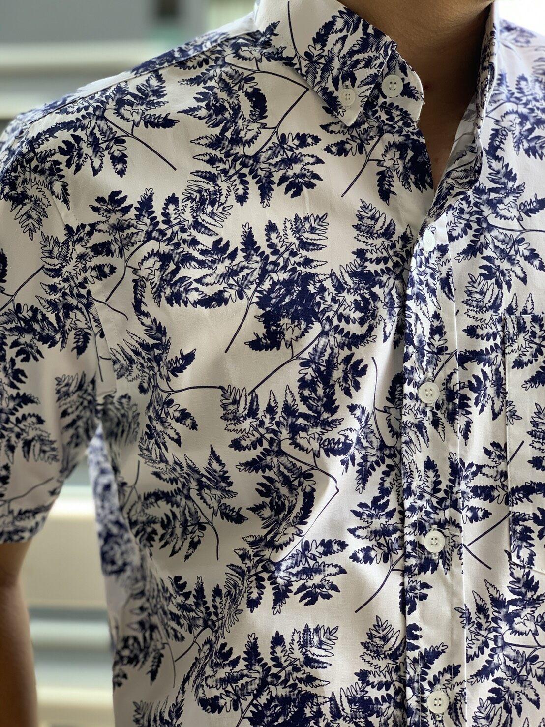 เสื้อเชิ้ตผู้ชาย 2020 แขนสั้น เสื้อคอปกแขนสั้น พิมพ์ลาย ไซส์พิเศษ ไซส์ใหญ่ ถึง ุ60 นิ้วผ้าดี