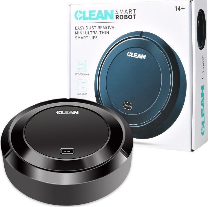 Homeappliances หุ่นยนต์ดูดฝุ่น CLEAN SMART ROBOT [S019] แบบชาร์จได้ เครื่องดูดฝุ่น ทำความสะอาด กะทัดรัด พกพาง่าย