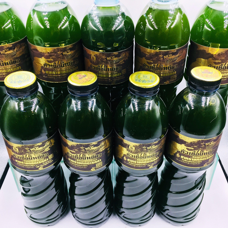 หัวเชื้อน้ำเขียว สาหร่ายคลอเรลล่า สูตรเข้มข้น! จำนวน 9 ขวด/600ml.(แถมฟรี!ชุดปุ๋ยขยายสำหรับเพาะหัวเชื้อน้ำเขียว)