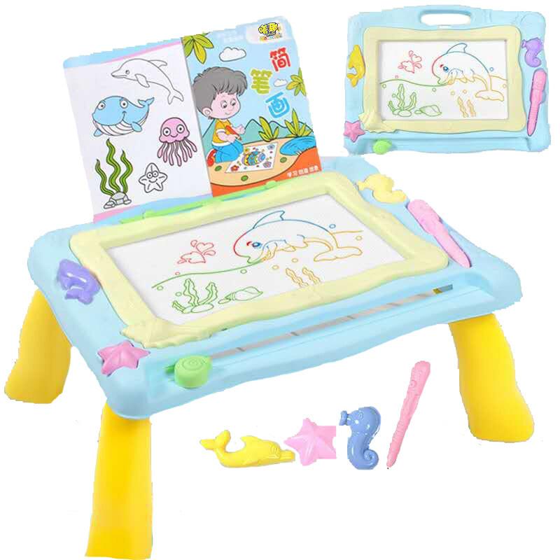 โต๊ะวาดเขียวแบบแม่เหล็ก แม่เหล็กมี4สี ช่วยเสริมสร้างทักษะ และความสนุกให้กับเด็กๆ มี 2 สีให้เลือก