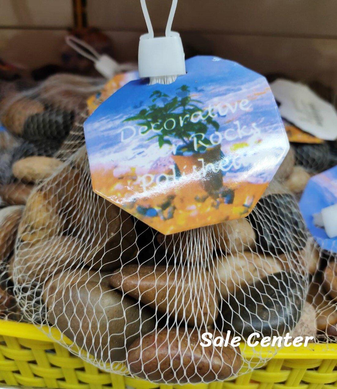 ก้อนหิน ก้อนหินตกแต่ง หินตู้ปลา หินแม่น้ำ หินแต่งสวน แต่งต้นไม้ หินโรยหน้ากระถาง ประดับตู้ปลา หิน รองพื้น 500 กรัม