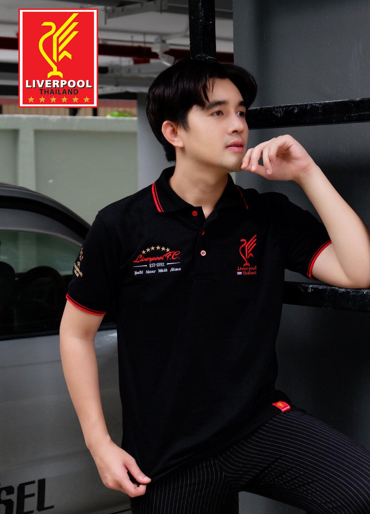 Polo Liverpool Thailand ชาย (ดำ)-Plm037b.