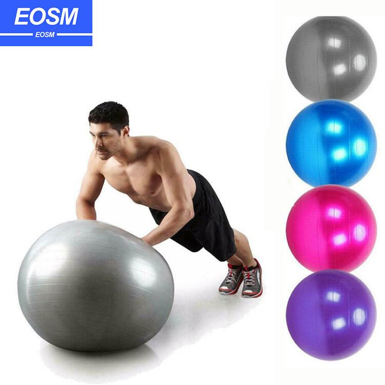 Eosm Pvc75cm โยคะบอลต่อต้านระเบิดลูกบอลออกกำลังกายที่มีคุณภาพสูงออกกำลังกายที่บ้านออกกำลังกายลดความอ้วนบอลปั๊มลม Burst Resistant 75cm Yoga Ball.