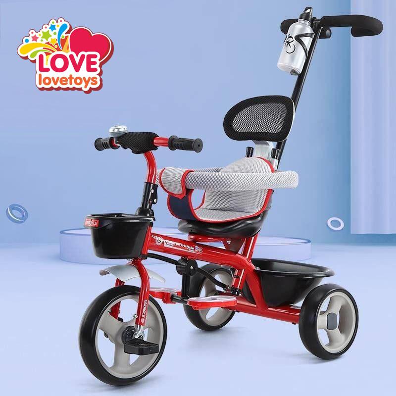 จักรยานสามล้อ จักรยานเด็ก รถเด็ก รถเข็นเด็ก 3ล้อสำหรับเด็ก มีด้ามเข็น รุ่น 616