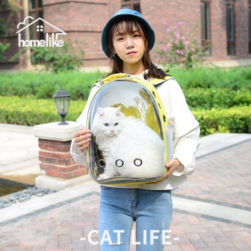 กระเป๋าใส่สัตว์เลี้ยงทรงอวกาศ กระเป๋าใส่แมวและหมาแบบสะพายหลัง มี7สี P001.