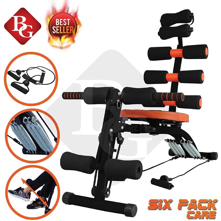 Six Pack Care B&g เครื่องออกกำลังกาย เครื่องบริหารหน้าท้อง (สีดำ/ส้ม, สีเทา/ส้ม) ( ออกกำลังกาย อุปกรณ์ออกกำลังกาย ) (คละสี).