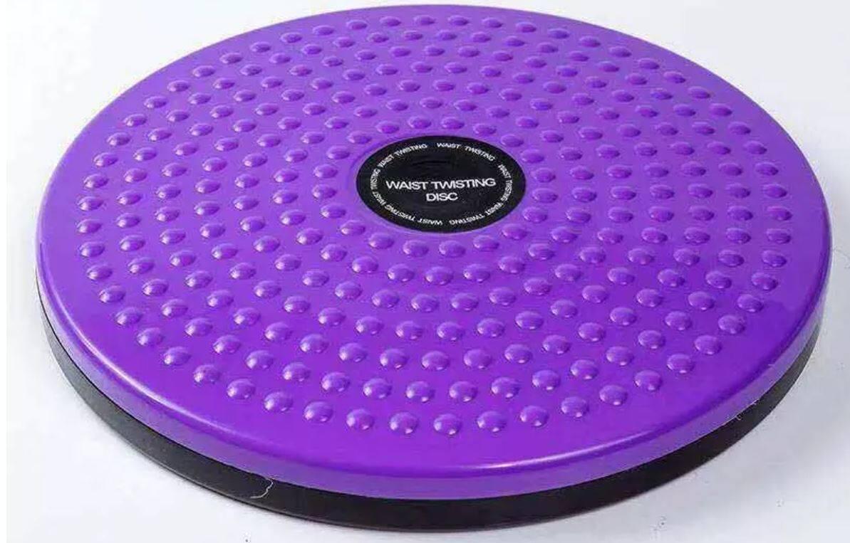 จานทวิส จานทวิสต์ จานทวิสหมุนเอว จานทวิสต์ 80 กิโล จานทวิสเตอร์ จานทวิสต์ 25 ซม.จานหมุนเอว และกระชับสัดส่วน สีม่วง / Twist Disc Board.