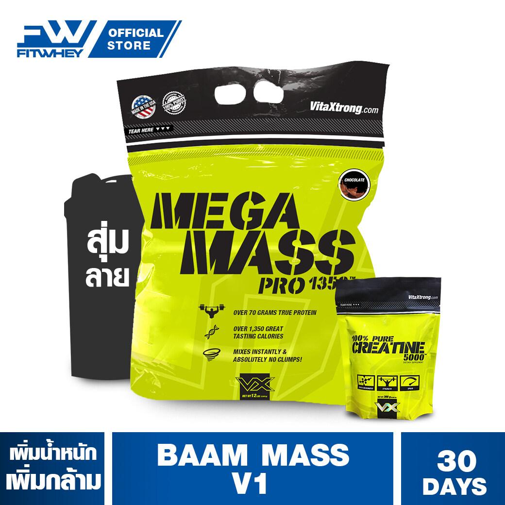Baam Mass V1 ขนาด 12 Lbs เวย์โปรตีนเพิ่มน้ำหนัก / สร้างกล้ามเนื้อ Fitwhey.
