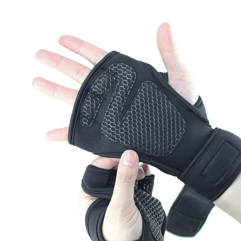 ถุงมือฟิตเนส Straps Leather Grip Pads & Strap Skdk หนังกลับ สแต๊ป หนัง รัดข้อมือ ถุงมือ เซพข้อ(1คู่).