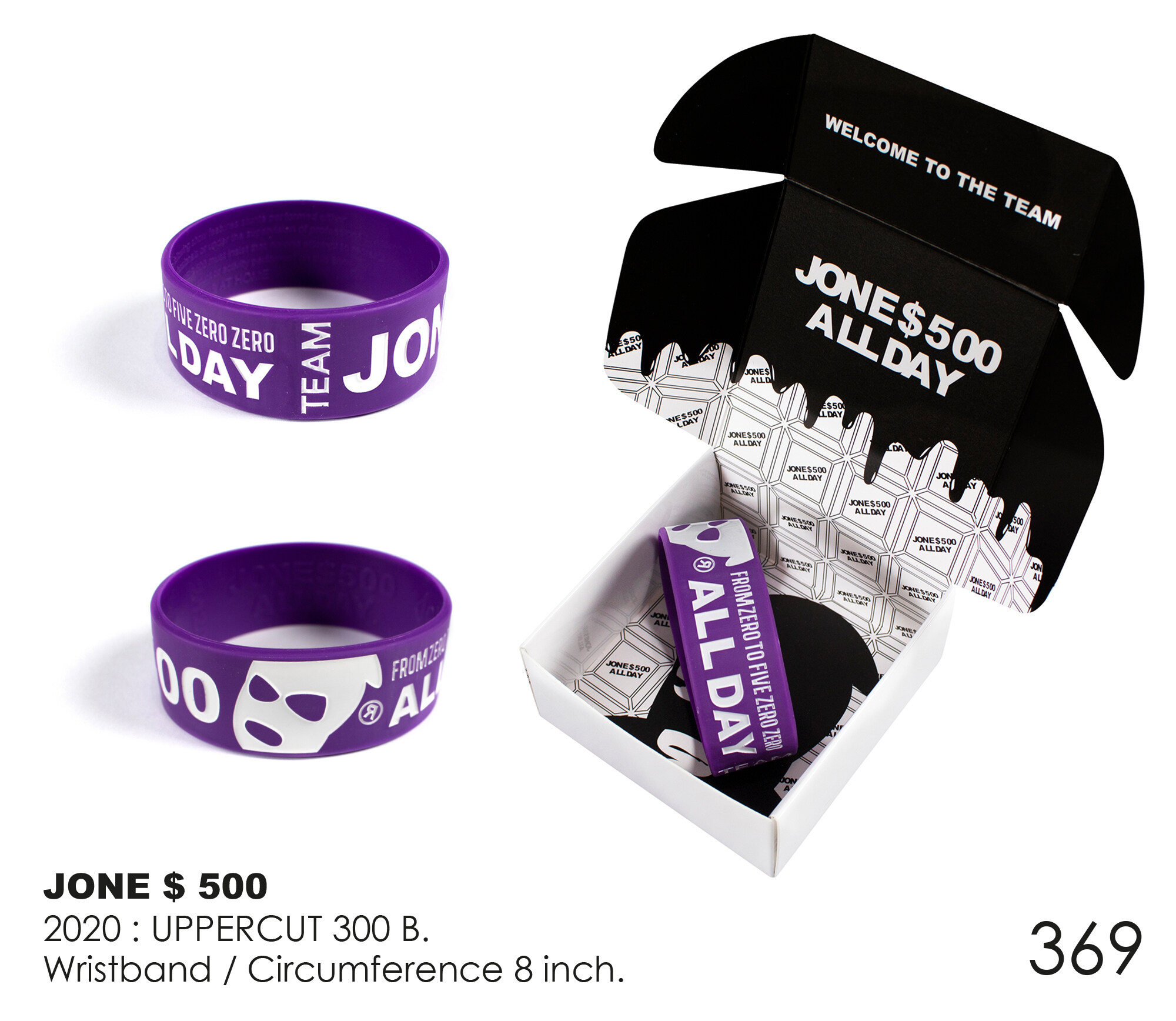 Dr.street Wristband JONE500 HOME RUN PROJECT 2019-2020