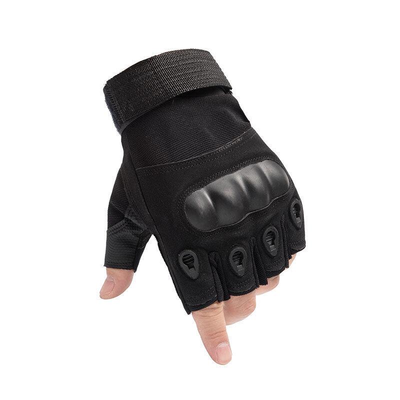 ถุงมือยุทธวิธี (แบบเปิดนิ้ว) ถุงมือ ทหาร สำหรับฟิตเนส ฝึกยุทวิธี ขี่มอเตอร์ไซค์ เดินป่า ตำรวจ ทหาร แข็งแรงทนทาน เส้นรอบวงฝ่ามือ 18-22 cm