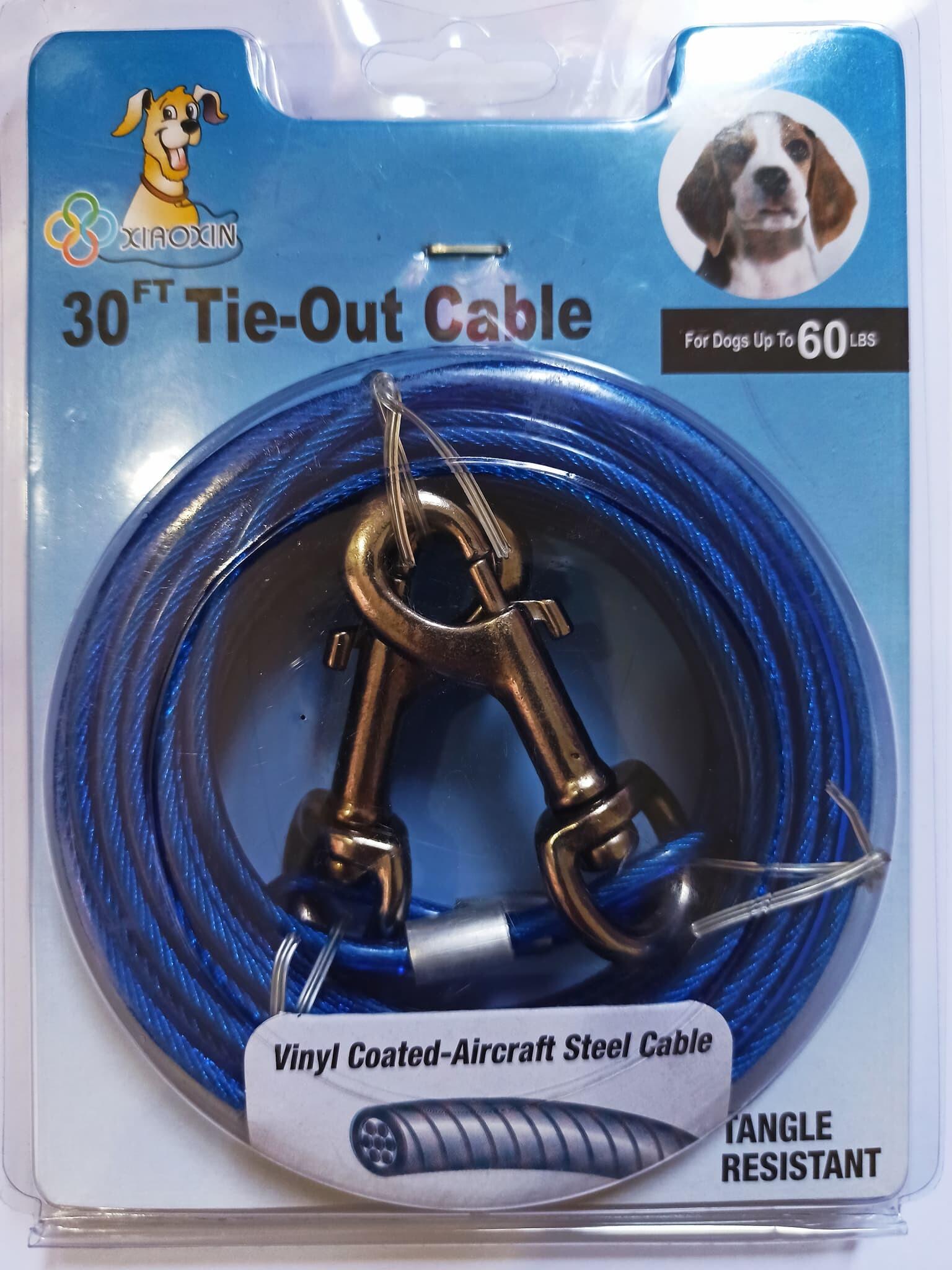 โซ่ล่าม สายเคเบิ้ล Cable โซ่ล่าม โซ่จูง สุนัข ความยาว15;20;30 ฟุต โซ่ล่าม โซ่จูง สุนัข อุปกรณ์สัตว์เลี้ยง พร้อมตะขอเกี่ยว 2 ด้าน หัว-ท้าย.