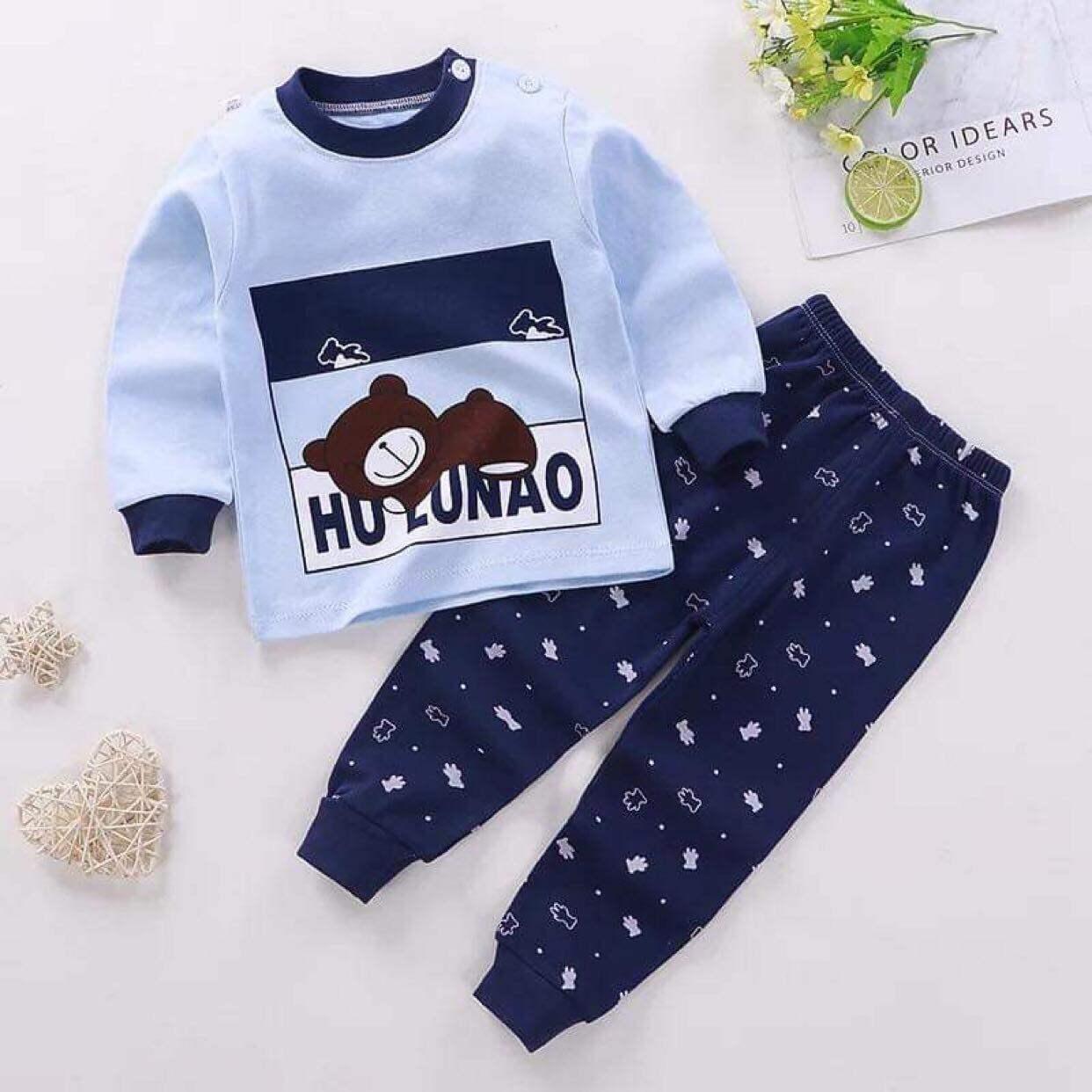 (ชุดนอนเด็ก ชาย 4 เดือน - 4 ขวบ)?ผ้านิ่ม cotton ลายการ์ตูนน่ารักสีสันสดใส size 80-120