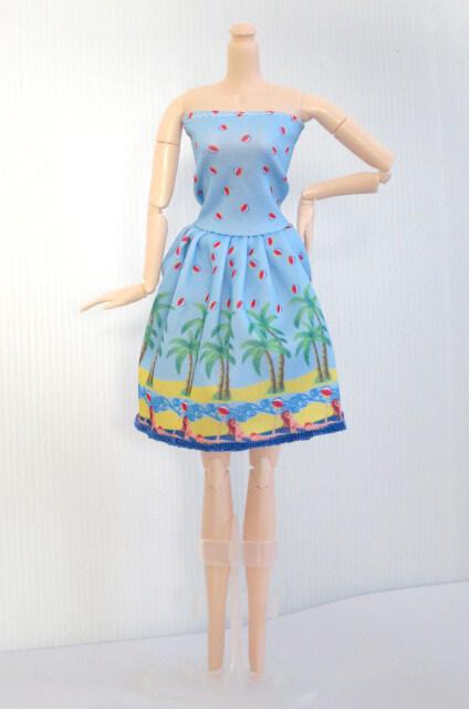 เสื้อผ้าตุ๊กตาบาร์บี้ ชุดลำลองกระโปรง สำหรับตุ๊กตาความสูง 30cm.