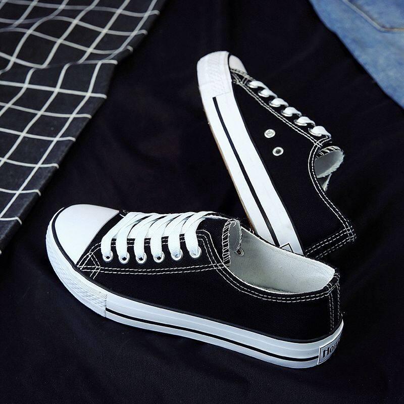 Canvas Shoesรองเท้าคู่โปรโมชั่นราคาถูกรองเท้าผ้าใบผู้ชายกันลื่น.