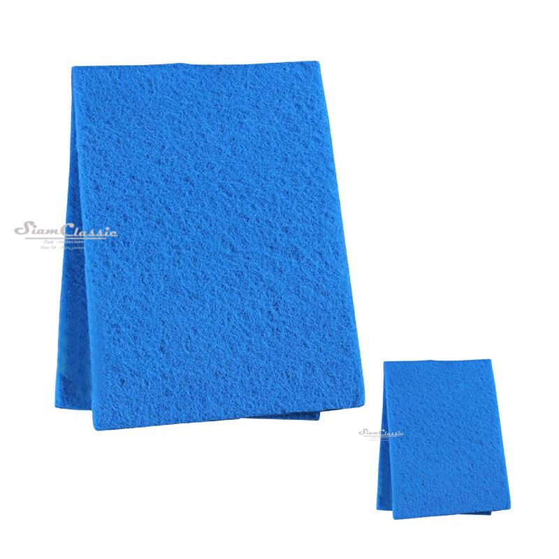 ใยกรองละเอียดอย่างดี ใยกรองน้ำ สีฟ้า ขนาด 30 x 90 ซม. หนา 2 ซม. ดักตะกอน กรองน้ำบ่อปลา