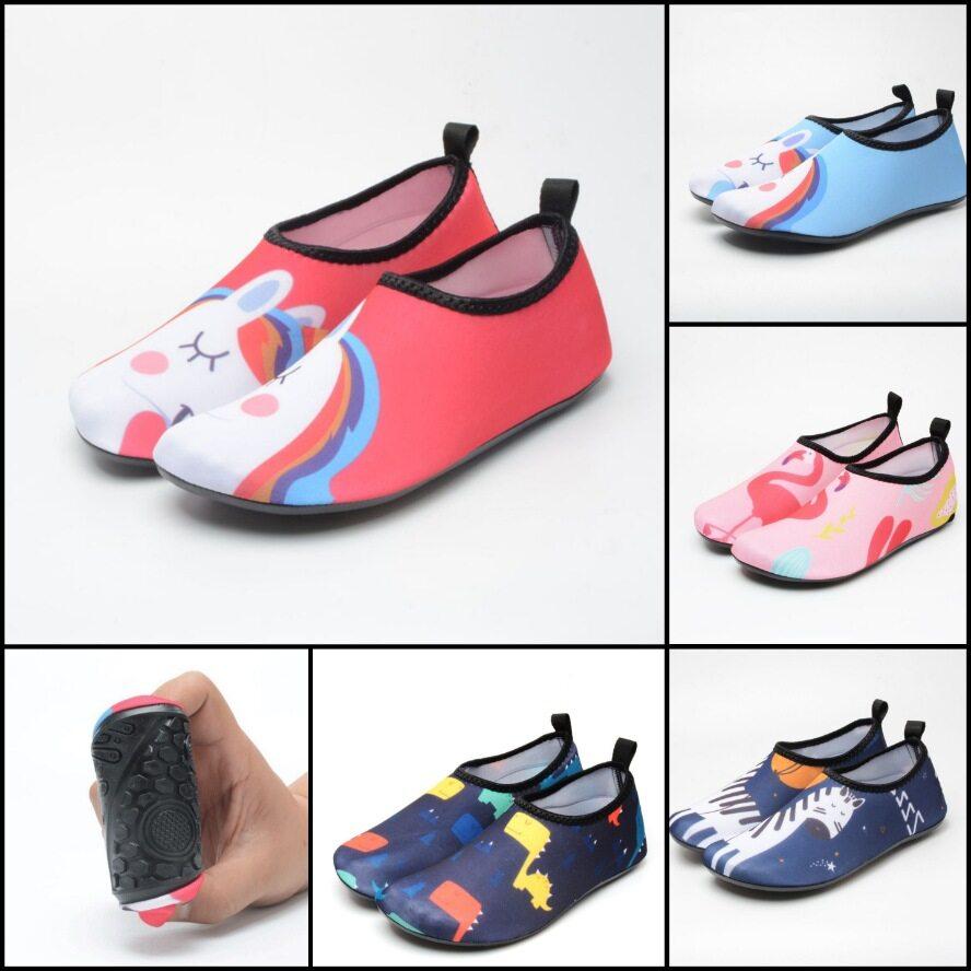 รองเท้าเด็ก รองเท้าเดินชายหาด รองเท้าว่ายน้ำเด็ก รองเท้าใส่ว่ายน้ำ รุ่น5mm.