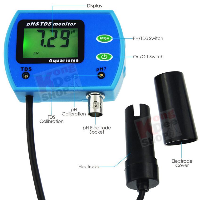 PH TDS Meter Soil Aquarium Pool Water ATC 9851 ที่เช็คค่าpHในน้ำ ใช้ วิเคราะห์คุณภาพของน้ำ วัดปริมาณพี่เอช วัดค่า pH ตรวจวัดพีเอชน้ำ (pH) ที่ตรวจสอบ ค่าพี่เฮช