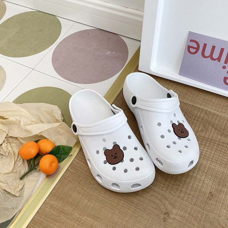 [SC]รองเท้ารูระบายอากาศ สีสวยน่ารัก ใส่ง่ายสบายเบาเท้า กันน้ำ