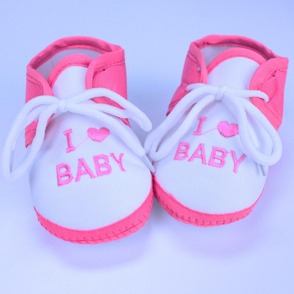 Babyonline(X231)N5รองเท้าสำหรับเด็กทารกแบบผูกเชือก