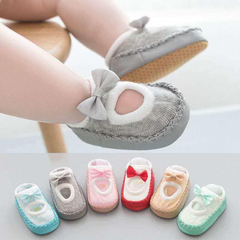 น่ารักสุดๆๆเลยจ้า รองเท้าหัดเดินลูกสาว รองเท้าเด็ก รองเท้าพื้นนิ่ม ระบายอากาศดี แต่งโบว์สดใส 6 สี! A52.