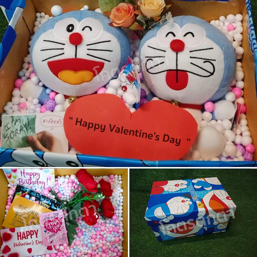ของขวัญ เซอร์ไพรส์ Doraemon โดเรม่อน ยิ้มอ้าปาก +โดหลับตา 8นิ้ว (รวม2ตัว) ลิขสิทธิ์แท้ 100% ของขวัญเปิดฝา-เต็มa (แพ็คกล่อง).