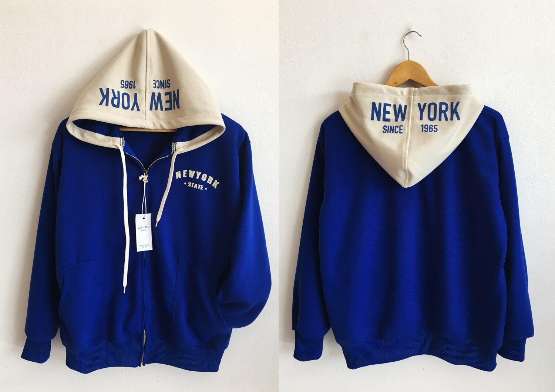 เสื้อ New York ของแท้ ซิปเหล็ก สกรีนนูน