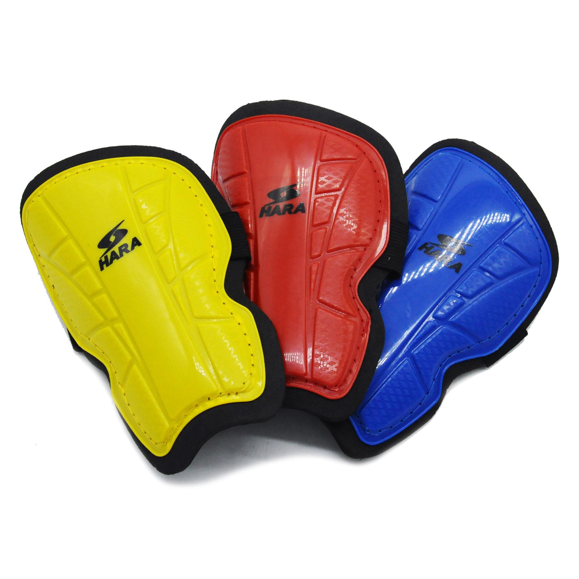 Hara Sports สนับแข้งฟุตบอล แบบมีสายรัด ของเด็กและผู้ใหญ่.
